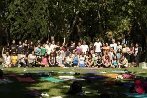 Foto de grupo Desayunos con Yoguis  Templo de Dedod