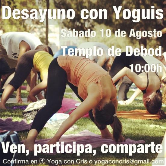 10 de Agosto Desayuno con Yoguis en el Templo de Debod