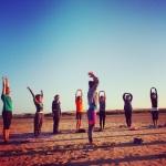 Clase de Vinyasa Yoga. Retiro de Cádiz, Mayo de 2014