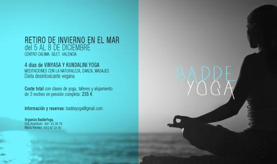 Cartel. Retiro de Yoga en Invierno. Diseño: María Hernández